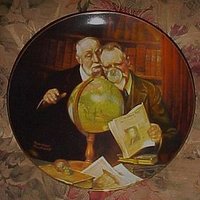 Norman Rockwell Newfound Worlds sixth issue plate