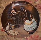 Norman Rockwell The storyteller Heritage Series plate