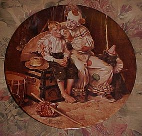 Norman Rockwell Sharing A Smile Heritage series plate