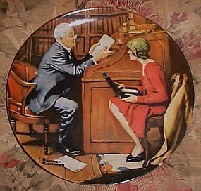 norman rockwell The Professor Heritage series plate