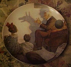 Norman Rockwell plate The Shadow Artist Heritage series