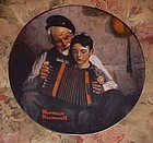 Norman Rockwell plate The Music Maker Heritage series