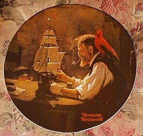 Norman Rockwell plate The Ship Builder #4th