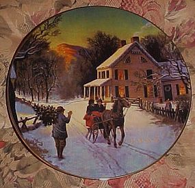 Avon Christmas 1988 Plate Home for the Holidays