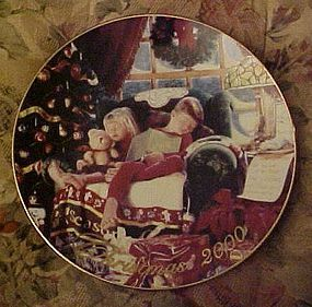 Avon Christmas plate 2000 Heavenly Dreams
