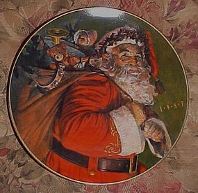 Avon Christmas Plate 1987 The Magic That Santa Brings