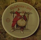 Norma Rockwell 1995  Plate Filling the Stocking