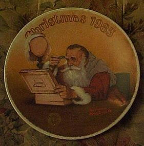 Norman Rockwell Grandpa Plays Santa 1985 plate
