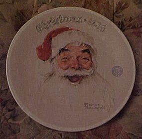 Norman Rockwell Santa Claus plate 1988