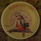 Norman Rockwell 2001 plate Bookkeeper Santa