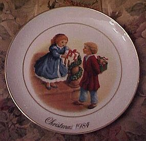 Avon 1984 Christmas plate, Celebrate joy of giving