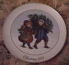 Avon 1981  Plate Sharing the Christmas Memories