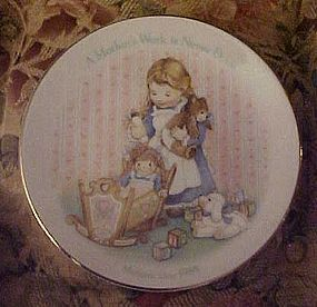Avon plate1988 A Mother's work is never done