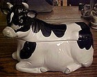 Otagiri vintage black and white cow cookie jar