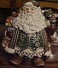 Fitz Floyd Jolly ole Saint Nick Cookie jar AWESOME