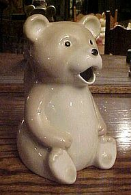 Porcelain bear shape juice pitcher utensil holder