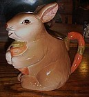 Bunny Rabbit ceramic milk or juice pitcher
