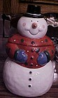 Coco Dowley Snowman cookie jar like new