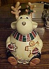 Reindeer with cookies cookie jar Cook's Bazzar