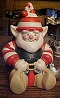 Vintage Christmas Elf cookie jar Adorable