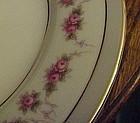 Noritake 1313 R.C. Japan pink rose swag dinner plate