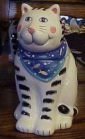 Co Co Dowley tabby cat cookie jar