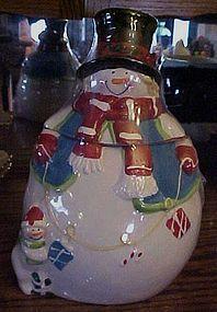 Ceramic Snowman Cookie Jar in box