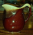 Nice USA brown drip syrup pitcher 5""