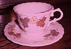 Metlox Vernon ware Autumn Leaves cup and saucer