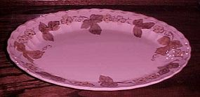"Metlox Vernonware Autumn leaves 12 1/4"" oval platter"