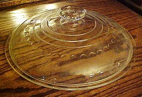 "Griswold marked 12"" glass lid octagon knob fits 10"""