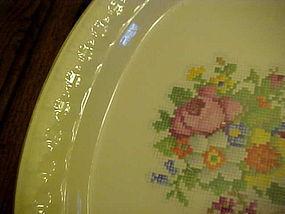 Taylor Smith Taylor Petit Point Bouquet  salad plate