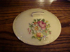 Taylor Smith Taylor Petit Point Bouquet casserole lid