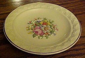 Taylor Smith Taylor Petit Point Bouquet saucer