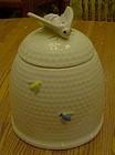 Large ceramic bee hive  cookie jar