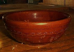 Mar-Crest daisy dot  5.5  pottery cereal soup bowl