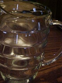 Vintage Rings water pitcher Thick and heavy