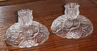 Fenton Satin water lily candleholders