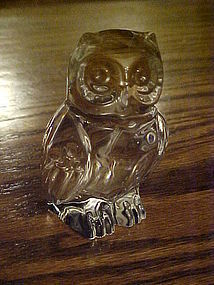Princess House lead crystal owl figurine paperweight