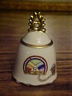 Cherryco Chubu Rebekah lodge fraternal porcelain bell