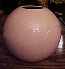 Large peach/shrimp round ball shaped vase