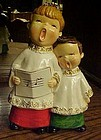 Vintage 1960's Choir boys  Christmas carolers figurine