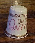Finsbury England  Congratulations on your baby thimble