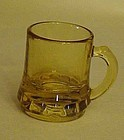 Federal Glass beer mug shape shot glass Amber
