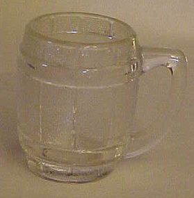 Old barrel or keg  shape shot  or toothpick glass clear