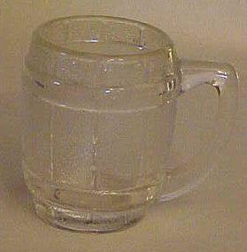 Old barrel or keg  shape shot  or toothpick glass clear