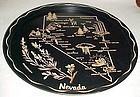 Black metal Nevada souvenir plate tray
