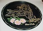 Black metal New York souvenir plate tray