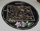 Black metal souvenir  Colorado state plate tray