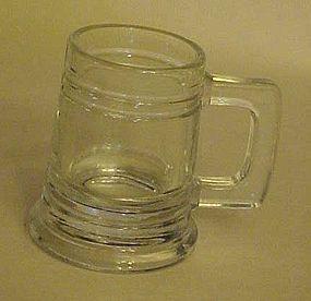 Glass beer stein or mug shaped shot glass
